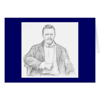 """Cartão de Paul McGehee """"Theodore Roosevelt"""""""