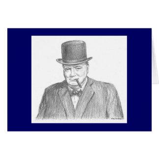"Cartão de Paul McGehee ""Winston Churchill"""
