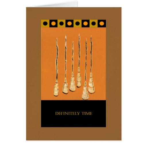 Cartão de PedagogyGreetings: Vassouras do Sassafra