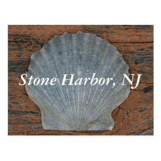 Cartão de pedra de Shell de Scallop do porto