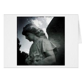 Cartão de pedra do vazio do anjo