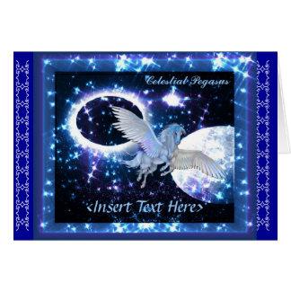 Cartão de Pegasus da noite estrelado