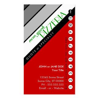 Cartão de perfuração da PIZARIA de NY: (o comprar Modelos Cartões De Visita