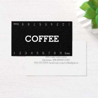 Cartão de perfuração dobro simples do café da