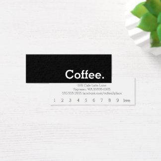 Cartão de perfuração escuro do café da lealdade da