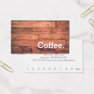 Cartão de perfuração simples do café da lealdade