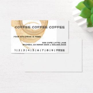 Cartão De Visitas Cartão de perfurador do café do café do café