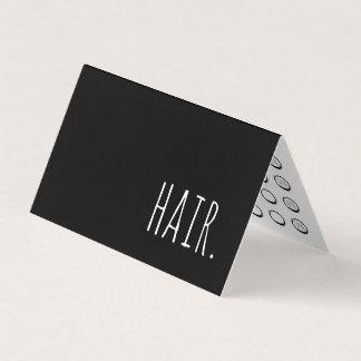 cartão de perfurador dobrado cabelo da lealdade