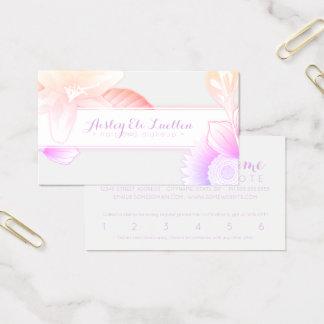 cartão de perfurador floral da lealdade do verão