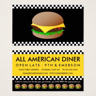 cartão de perfurador modelo dos Hamburger