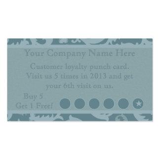 Cartão de perfurador relativo à promoção do cartão de visita