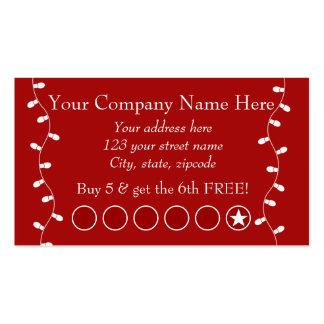 Cartão de perfurador relativo à promoção do cartoes de visitas