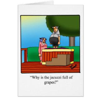 Cartão de permanência em contacto engraçado do