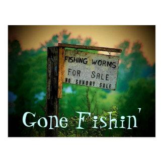 Cartão de pesca ido