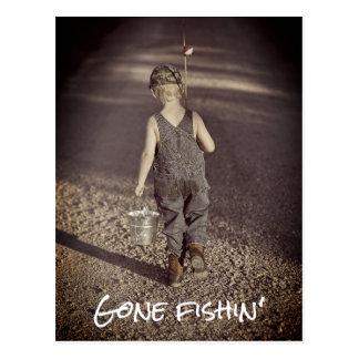 Cartão de pesca ido do anúncio da aposentadoria