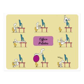 Cartão de Pilates do escritório, amarelo