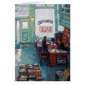 """Cartão De """"pintura a óleo da venda de livros Eureka"""" por"""