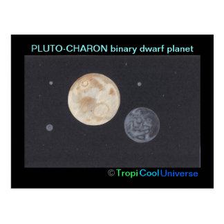 Cartão de PLUTO do planeta