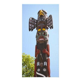 Cartão de pólo de Totem Cartão Com Fotos