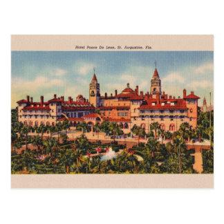 Cartão de Ponce De Leon St Augustine do hotel do