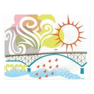 Cartão de Portland da ponte da ilha de Ross