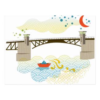 Cartão de Portland da ponte de Morrison