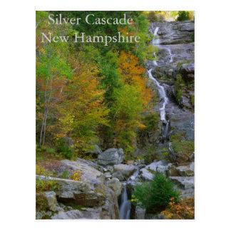 Cartão de prata da cascata