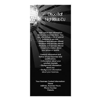 Cartão de prata da cremalheira da propaganda da bo 10.16 x 22.86cm panfleto