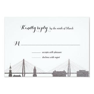 Cartão de prata de Rsvp do falso de Charleston Convite 8.89 X 12.7cm