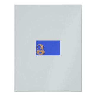 Cartão de prata do >Engagement Convite 10.79 X 13.97cm