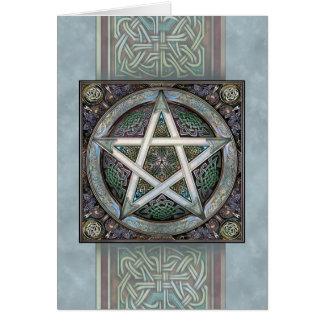 Cartão de prata do Pentacle de Knotwork