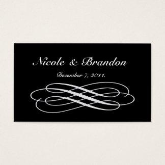 Cartão de prata do Web site do casamento do conto