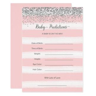 Cartão de prata e cor-de-rosa das previsões do