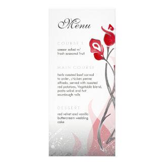 Cartão de prata vermelho da cremalheira dos rosas