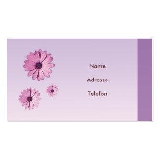 Cartão de presentação desenhos de flor cartão de visita