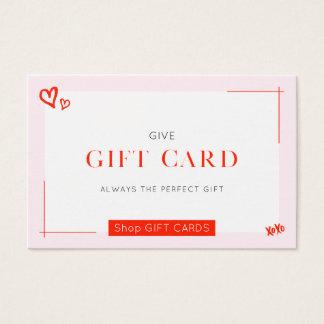 Cartão de presente bonito do ★
