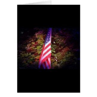 Cartão de presente da bandeira americana