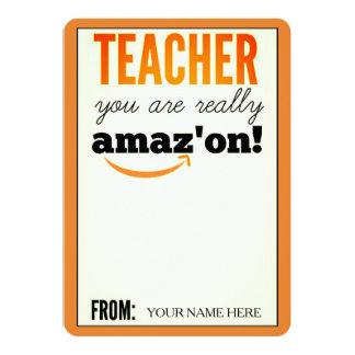 Cartão de presente de Amazon da apreciação do