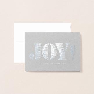 Cartão de presente de época natalícia da alegria