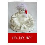 Cartão de presente de época natalícia de riso de B