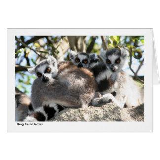 Cartão de presente do Lemur