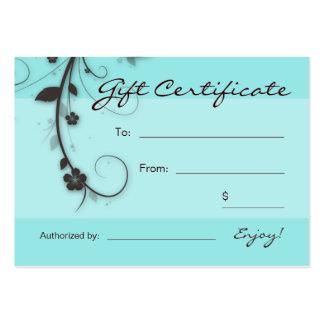 Cartão de presente floral dos redemoinhos do marro cartoes de visita