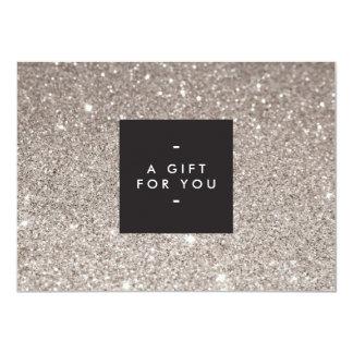 Cartão de presente moderno da beleza do brilho de convite personalizados