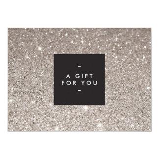 Cartão de presente moderno da beleza do brilho de convite 11.30 x 15.87cm