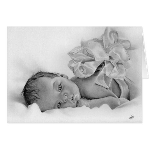 Cartão de presente recém-nascido do bebê