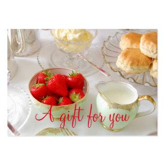 Cartão de presente relativo à promoção do chá do cartão de visita grande