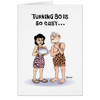 Cartão de primeira geração do aniversário do 80