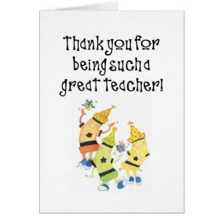 cartão de professor