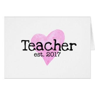 Cartão de professor, cartão de professor novo