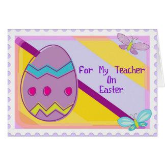 Cartão de professor do felz pascoa